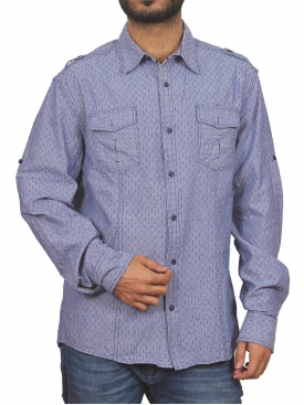 Denim Blue Casual Shirt