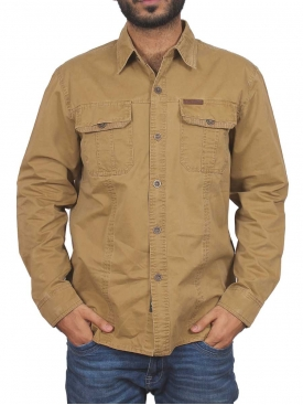 Brown Jeep Casual Shirt