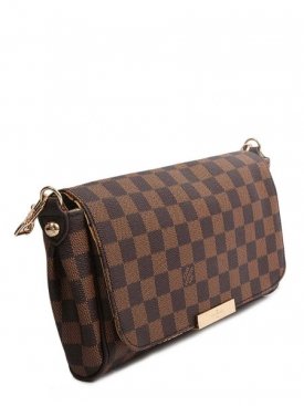 Damier Azur Clutch Brown