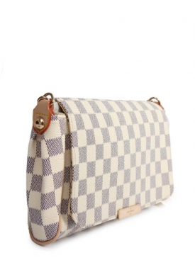 Damier Azur Clutch White
