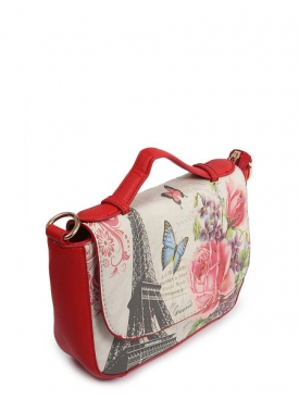 Printed Clutch Bag Red