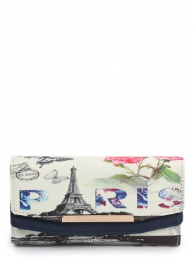 Paris Blue Wallet