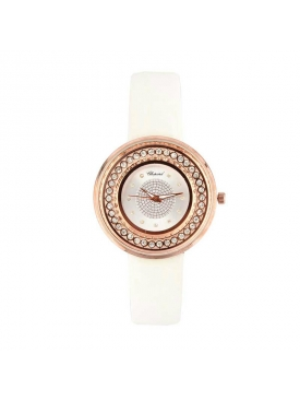 White Strap Gold Dial WH