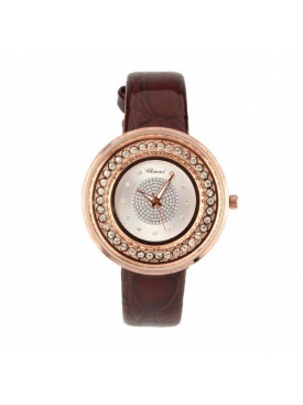 Brown Strap Gold Dial BR