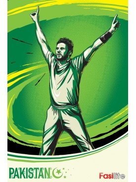 Shahid Afridi WC Poster
